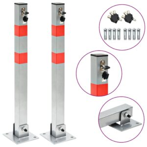vidaXL Parking Posts with Locks 2 pcs